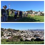 The viewers and their view from Kite Hill on the March Reaching for San Francisco's Rooftops #walk #sf #igdaily #igerssf #igaddict #instagood #instadaily #picoftheday #photooftheday